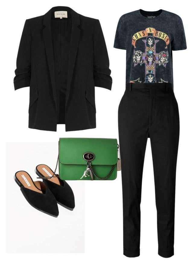 Suit it up by thinklikeyasso on Polyvore featuring polyvore, fashion, style, Boohoo, River Island, Étoile Isabel Marant, Coach and clothing
