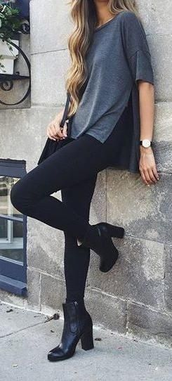 Simple everyday street style. Could also work for a casual Friday outfit... depending on your industry of course!