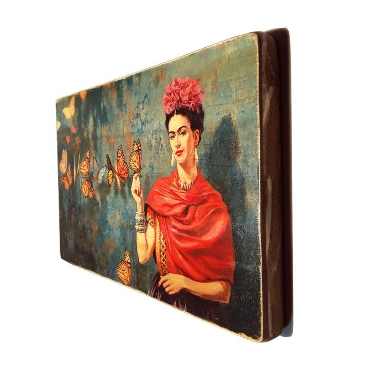 """I don't paint dreams or nightmares, I paint my own reality.""  ― Frida Kahlo #etsy #estyart #artisanal #artesanalwoodprint #recycling #upcycling #woodart #frida #fridakahlo"