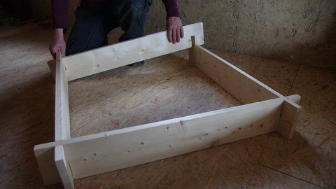 Carré de potager en bois