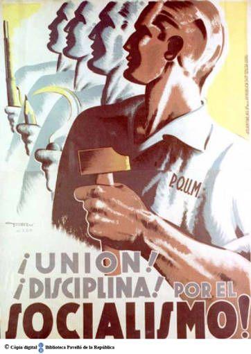 Unión! disciplina!: por el socialismo :: Cartells del Pavelló de la República (Universitat de Barcelona)