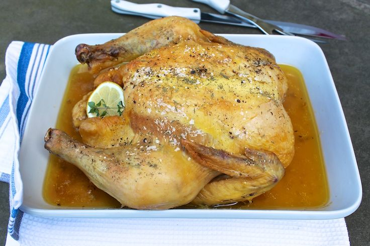 Slow Roasted Whole Chicken -- tender, juicy and so satisfying...easy to cook two at a time and a perfect meal to share with a friend