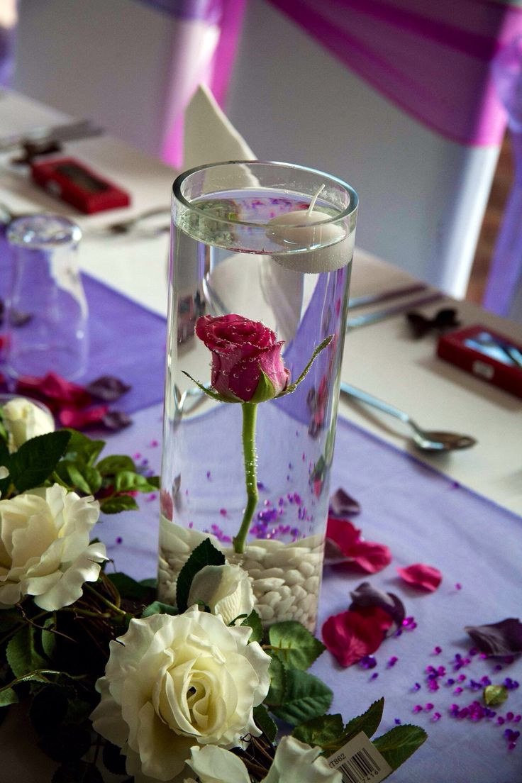 Beauty and the beast themed wedding enchanted rose