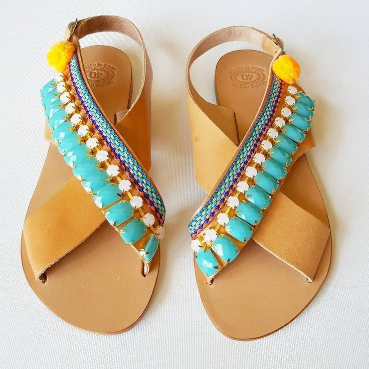 YOH Aquata sun-dolls by De.L'art - Greek handmade sandals