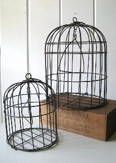 Set of 2 Iron Bird Cages