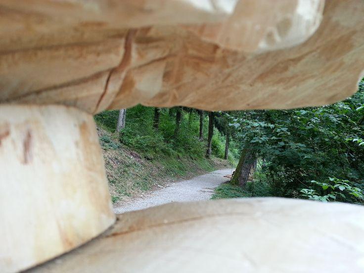 Una #passeggiata ricca di #arte è quella che propone #boscoartestenico a due passi dalle #termedicomano. #Trekking facile immersi nel #bosco #trentino dove poter ammirare numerose #sculture in #legno, vere opere d'arte #visitacomano
