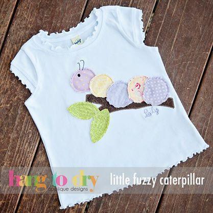 Hang to Dry Applique - Little Fuzzy Caterpillar, $3.99 (http://www.hangtodryapplique.com/little-fuzzy-caterpillar/)