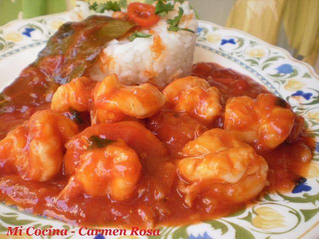 Mi cocina: CAMARONES (LANGOSTINOS) EN SALSA CUBANA                                                                                                                                                                                 Más