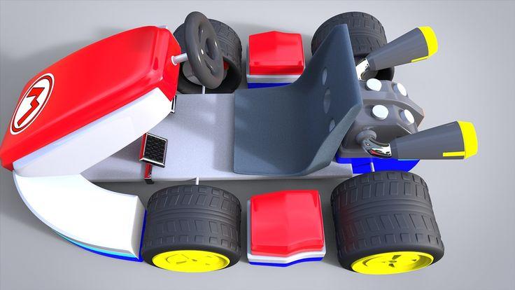 3D Model - Mario Kart on Behance   Mario kart, Mario, Model