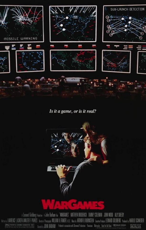 """WarGames"" > 1983 > Directed by: John Badham > Thriller / Paranoid Thriller / Teen Movie / Psychological Thriller / Sci-Fi"