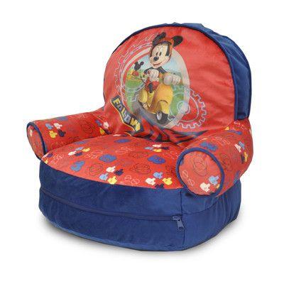 Mickey Mouse Kids Bean Bag Arm Chair with Bonus Sleeping Bag - http://delanico.com/bean-bag-chairs/mickey-mouse-kids-bean-bag-arm-chair-with-bonus-sleeping-bag-640749202/