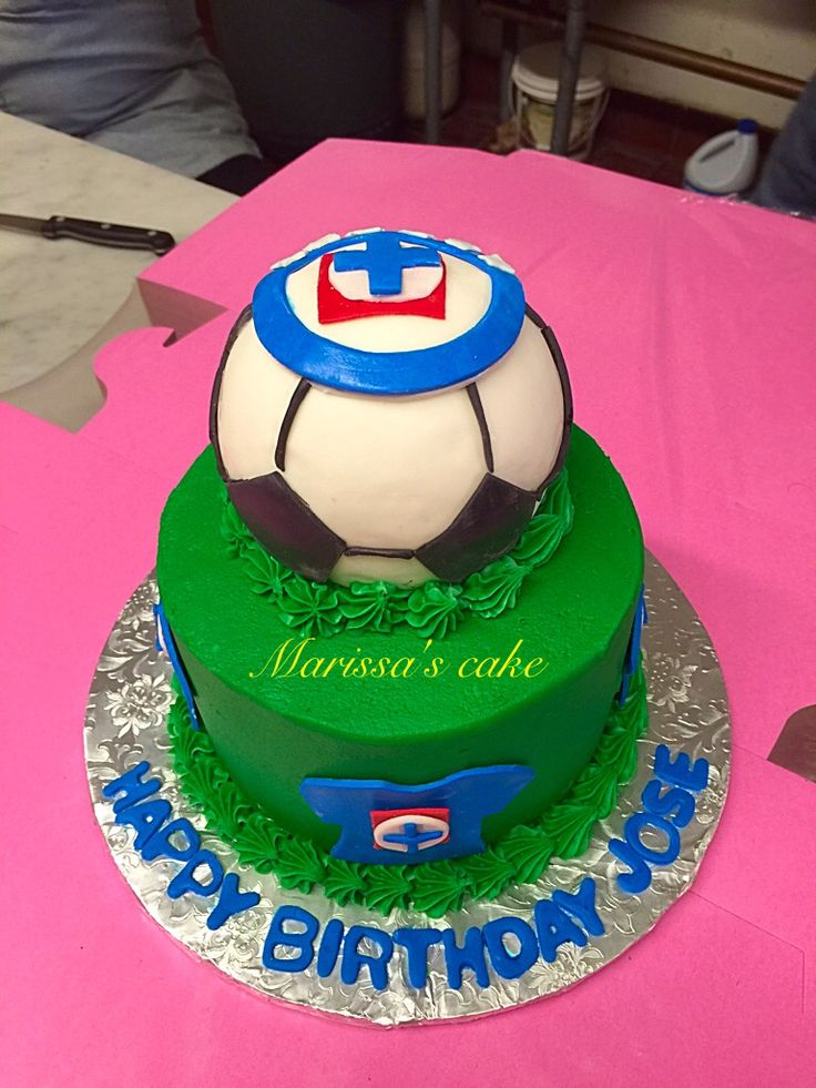 3d cruz azul birthday cake visit us or www for Cake craft beavercreek ohio