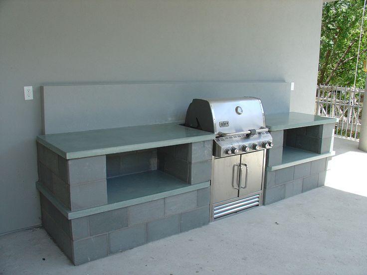 outdoor concrete kitchen countetop