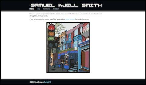 Website for artist Samuel Kjell Smith