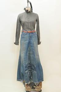 Vintage Levi Maxi Denim Skirt   Day of Reckoning