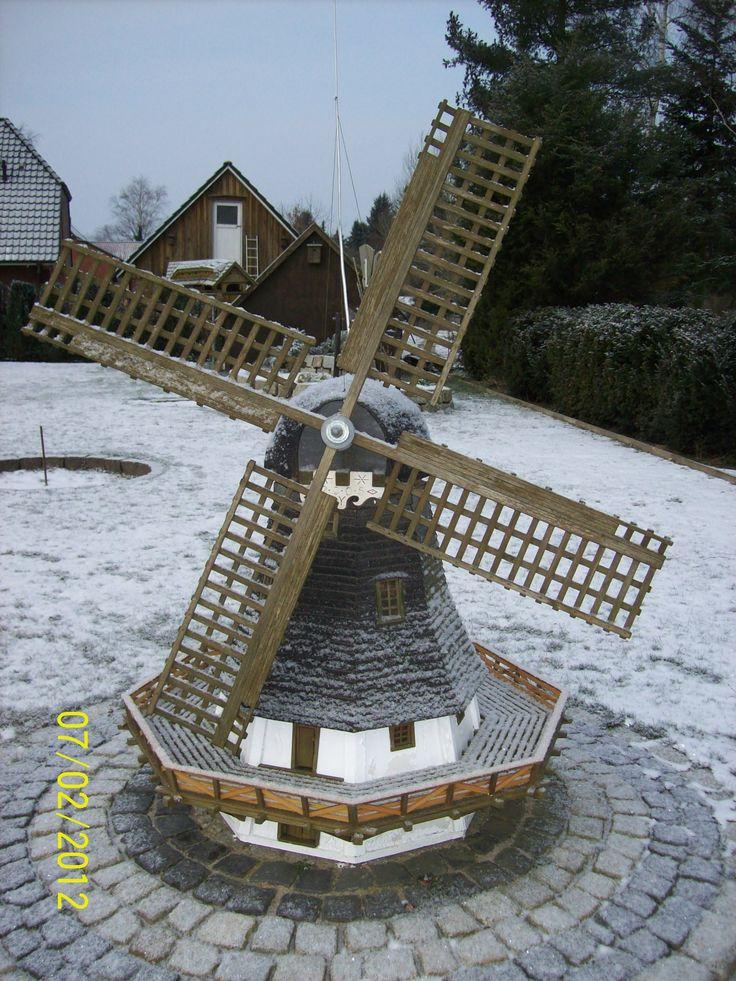 Gartenwindmühle 1 Bauanleitung zum selber bauen