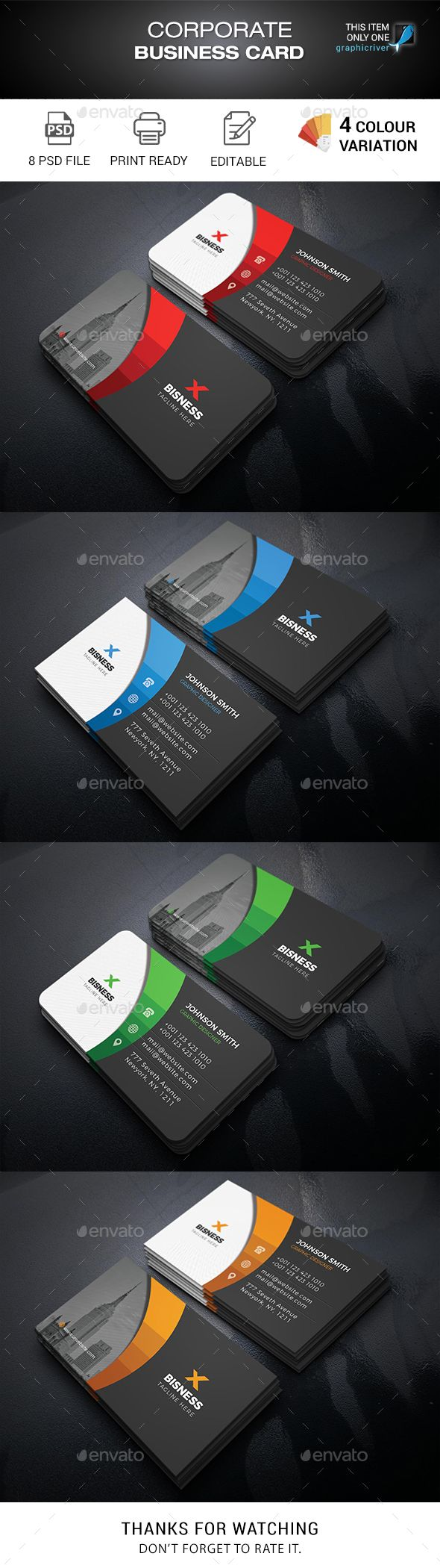Business Cards Business Card Template Psd Business Card Graphic Corporate Business Card