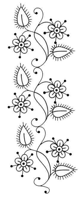 this embroidery pattern could be adapted to free motion quilting