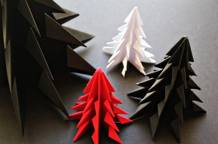 Елочка оригами своими руками. Украшения на Новый Год.