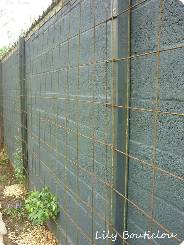 Les 25 meilleures id es concernant murs en parpaings sur - Peindre un mur en beton ...