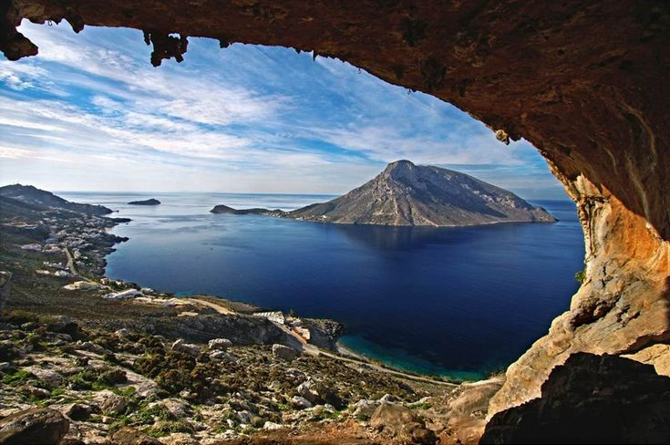 "This tiny Greek island, Kalymnos, is considered the ""climbing mecca"" of Greece by many climbing lovers around the world. From the quite Emporios village, follow the rocky gully that leads up to the hillside and find Kastri, a narrow canyon... Learn more: http://sail-la-vie.com/discover/l/3232/Emporios_Rock_Climbing_Field_-_Kalymnos"