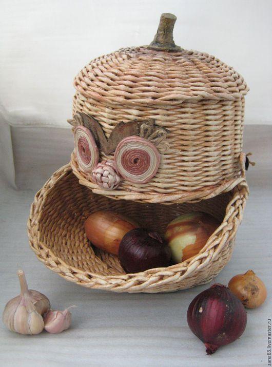 """Кухня ручной работы. Ярмарка Мастеров - ручная работа. Купить Домик для лука """"Веселый урожай"""". Handmade. Домик для лука"""