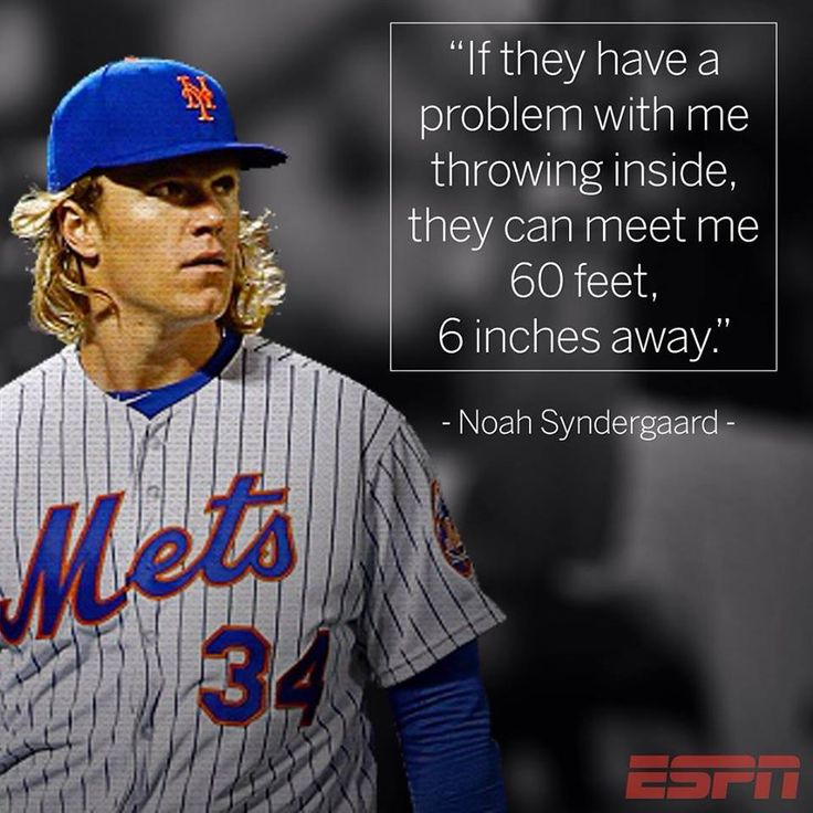 Noah Syndergaard quote after throwing a 'high and tight' pitch to Kansas City batter, Elcides Escobar. Let's go mets!