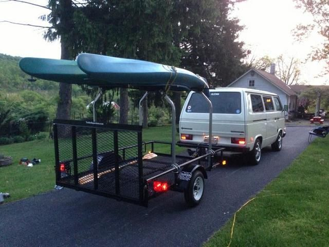 5 x 8 Utility Trailer converted into trailer to haul kayaks with Malone Top Tier kayak Rack | trailersuperstore.com