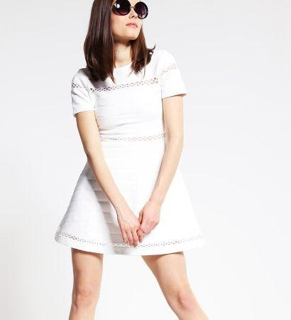 Topshop Petite Sukienka z dżerseju ivory