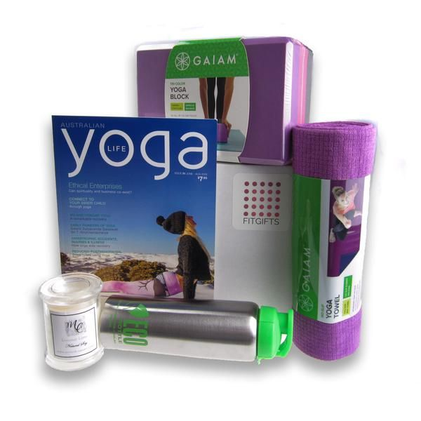 Perfect Fitness gift box for your Yoga loving family and friends. Including many yoga fitness products, beautifully gift wrapped & delivered Australia wide.