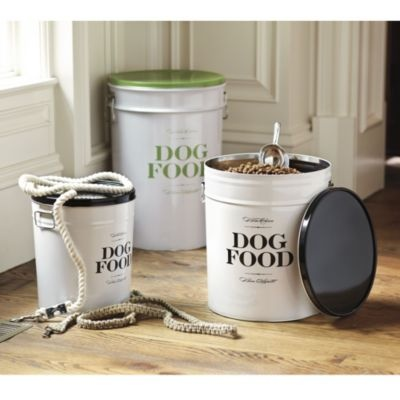 Plastic Or Metal Canister For Dog Food