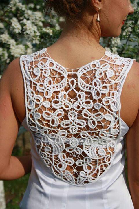 Combinatie de rochie si macrame