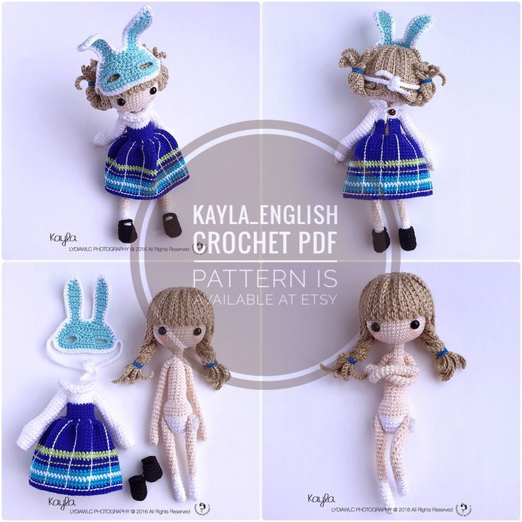 222 best crochet dolls images on pinterest amigurumi doll crochet crochet doll pattern kayla little girl with rabbit mask dt1010fo