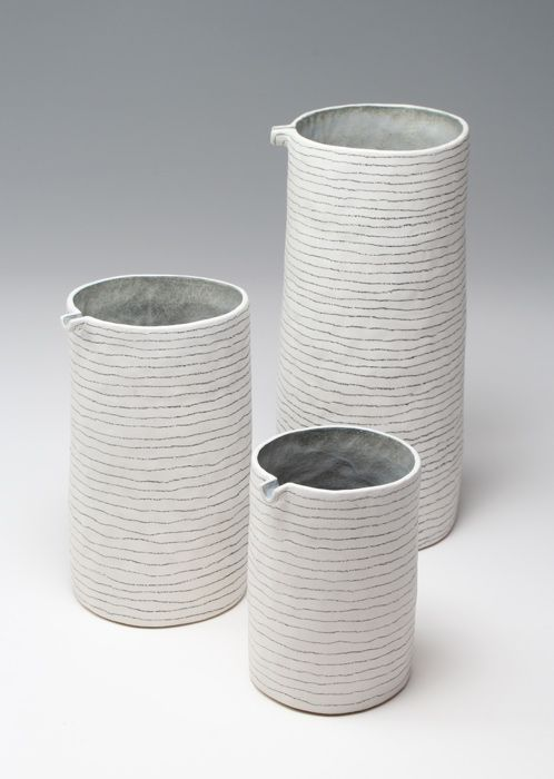 Susan Disley: 3 Pinched and coiled jugs.