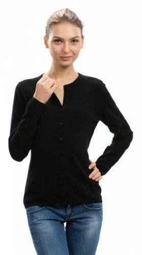 $139.95 cool Women's Black Cashmere Cardigan - 100% Cashmere - Citizen Cashmere