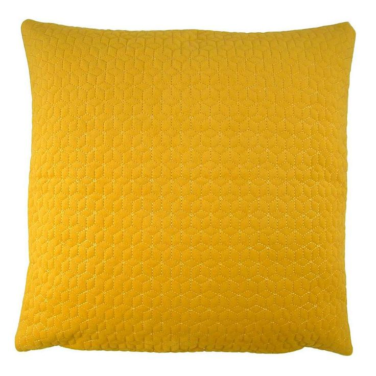 Andie Ochre Cushion Cover | Dunelm