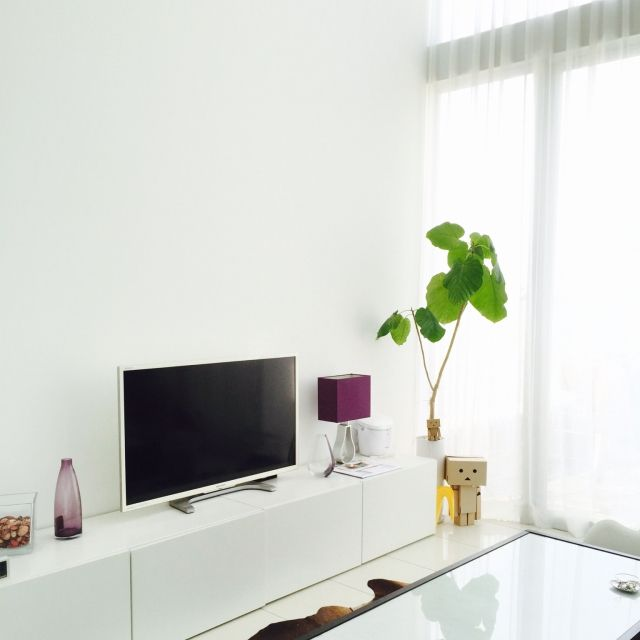 観葉植物/IKEA/ミニマリスト/差し色/部屋全体のインテリア実例 - 2015-08-23 17:54:33   RoomClip(ルームクリップ)