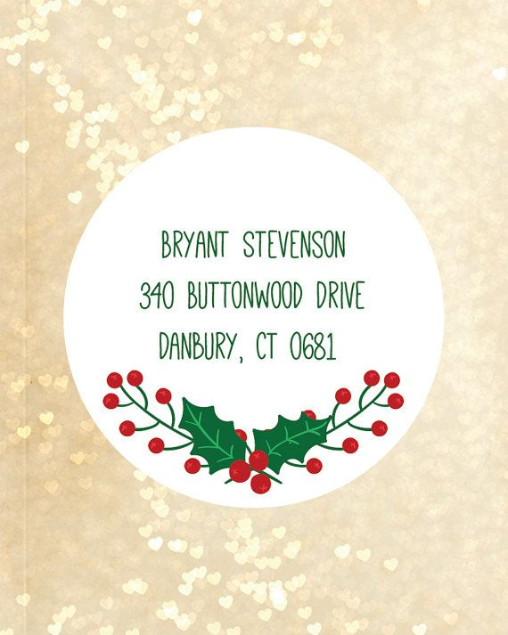 Best 25+ Christmas return address labels ideas on Pinterest - Return Address Label Template
