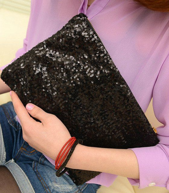 Cleo Clutch (Choose Color) $14.99. Because who doesn't need some more sequins in their life?