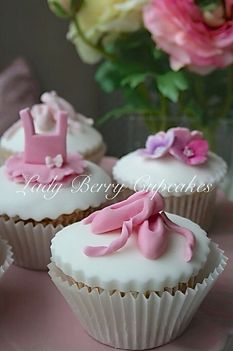 Ballet Themed Cupcakes