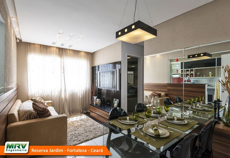 Apartamento decorado 2 quartos do Reserva Jardim no bairro Dias Macedo - Fortaleza - CE - MRV Engenharia - MRV Engenharia - Sala.