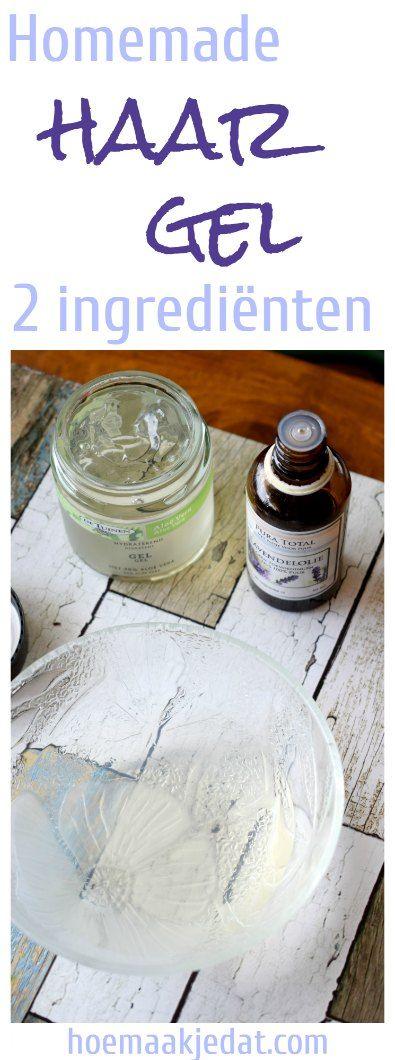 Hou je haar in bedwang met deze homemade gelatine haargel. Gemaakt met maar twee ingrediënten! hoemaakjedat.com #blogfeestje