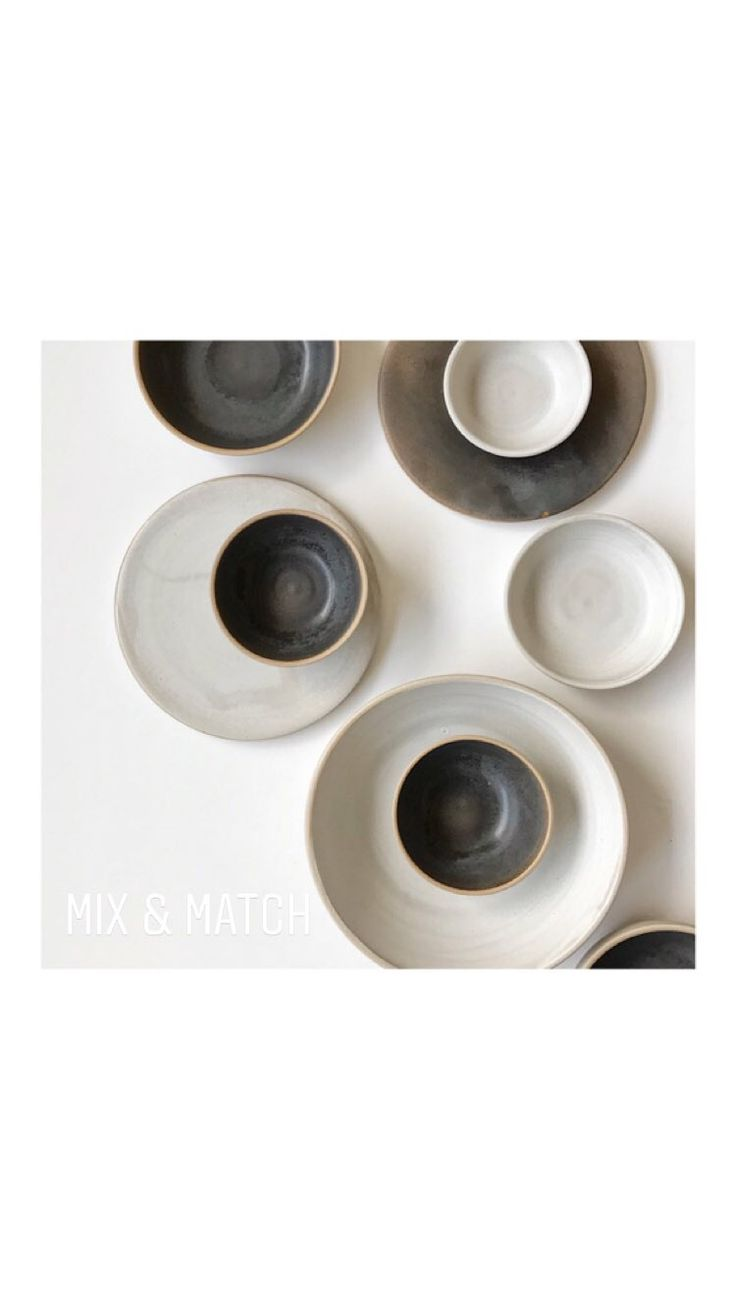 by Annemieke Boots Ceramics stoneware - tableware - plates in white and grey