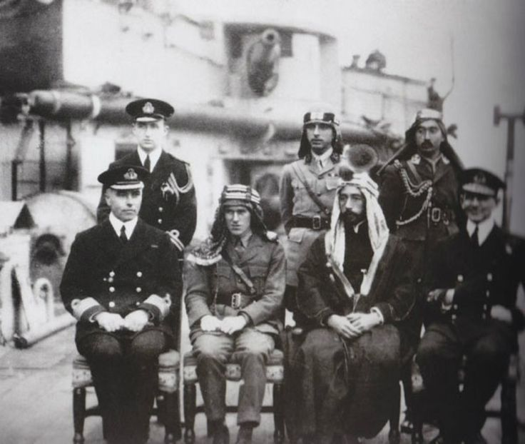 King Faisal I of Iraq with Lawrence of Arabia
