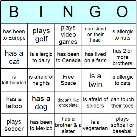 Best 20+ Human Bingo Ideas On Pinterest | Icebreaker Games For