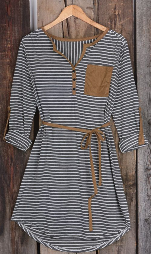 Get this suede classic with $19.99 Only+easy return! This button detailed midi dress is so casual&chic featured waist belt&v-neck! Can Not deny it at Cupshe.com !