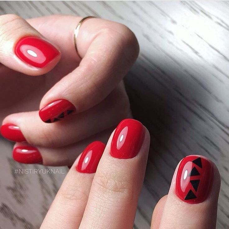Elegant nails, Fashion nails 2017, Insanely beautiful nails, Nails with pictures, Red nails ideas, Romantic nails, Round nails, Short red nails Short, simple, cute, love