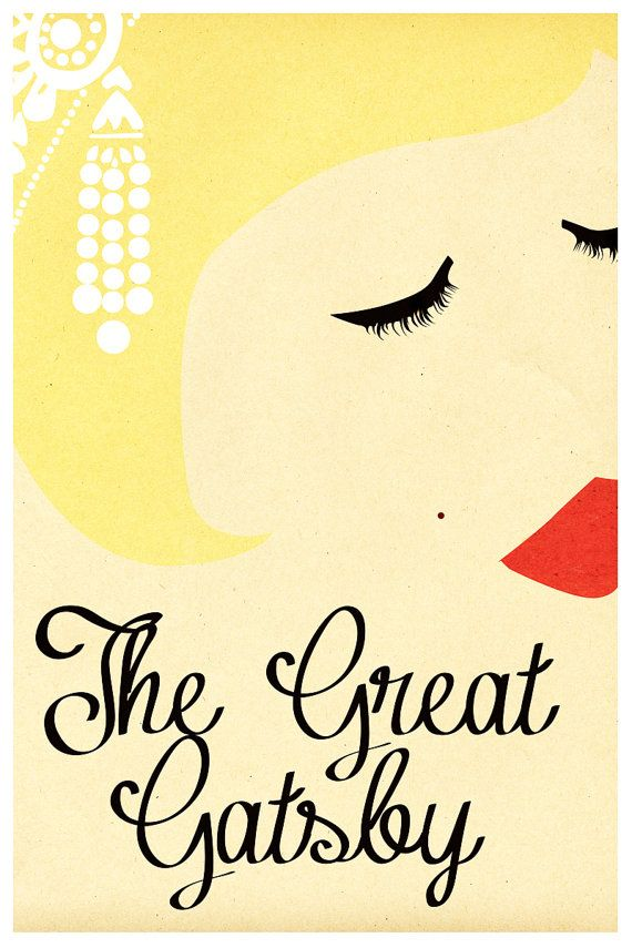 "Minimalist ""The Great Gatsby Poster"" by FinchGraphic, $12.00"