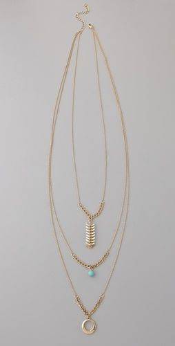 Jules Smith Tangier Layered Charm Necklace - StyleSays