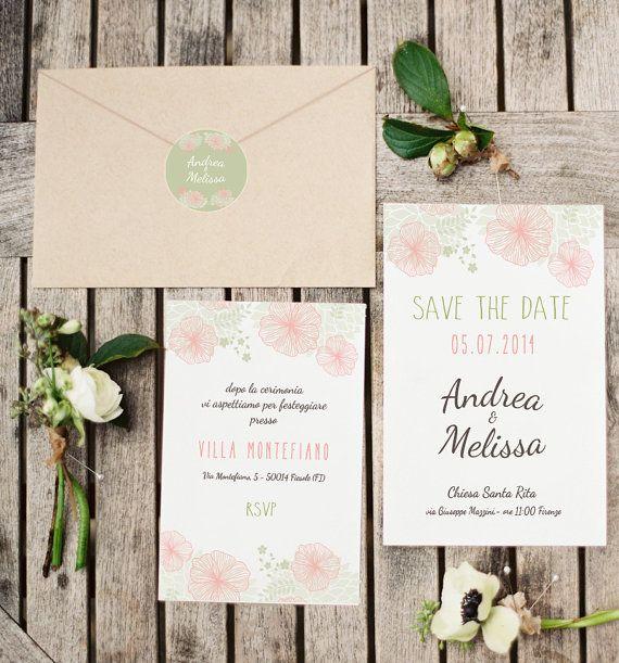 Set partecipazione di nozze di GoodLifeEventi su Etsy